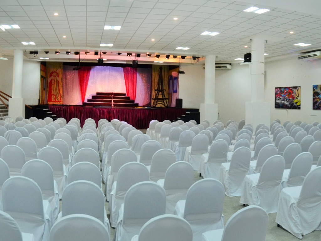 Our Theater can accommodate up to 450 people